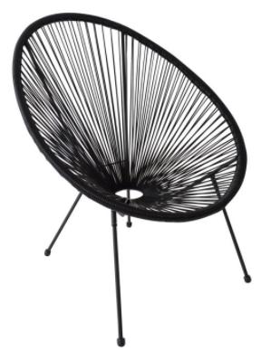 Cadeira de Jardim Acapulco Preta