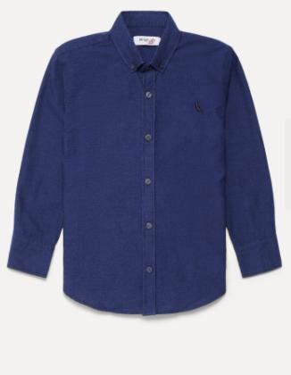 Camisa Mini Pf Ml Oxford Black