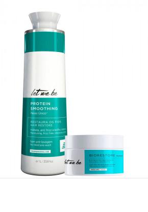 Escova Progressiva Protein Smoothing + Máscara Biorestore | 2 produtos