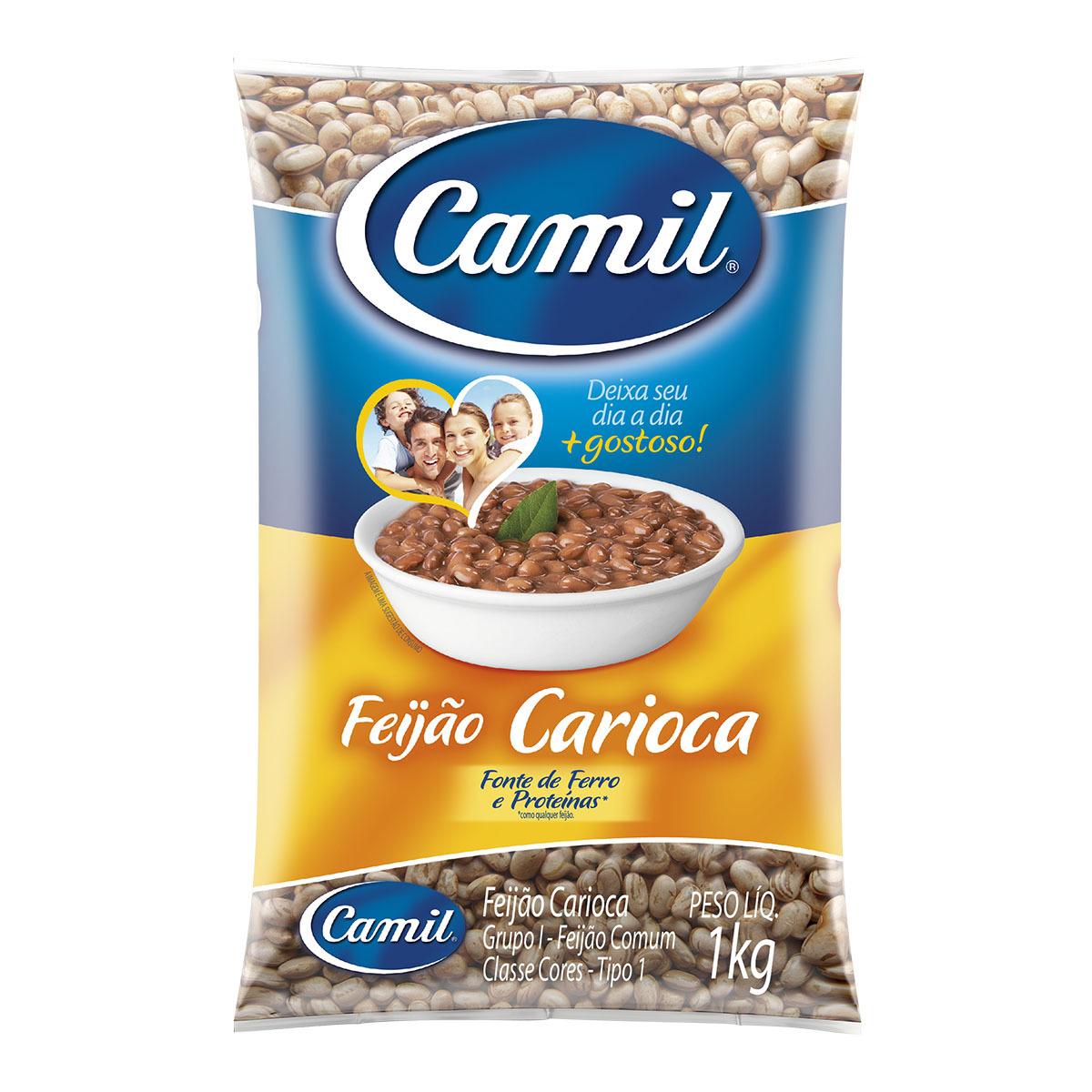 Feijão Carioca Tipo 1 Camil Todo Dia 1 Kg