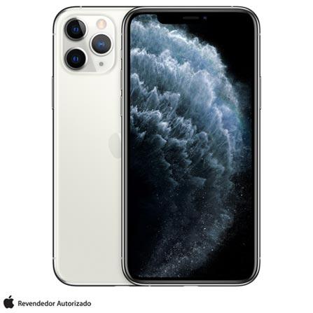 """iPhone 11 Pro Prata, com Tela de 5,8"""", 4G, 256 GB e Câmera de 12 MP"""