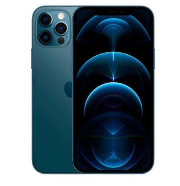 """iPhone 12 Pro Max Azul Pacífico, com Tela de 6,7"""", 5G, 512 GB e Câmera Tripla de 12MP - MGDL3BZ/A"""