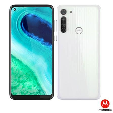 """Moto G8 Branco Prisma Motorola, com Tela 6,4"""", 4G, 64GB e Câmera de 16MP + 8MP + 2MP - XT2045-1"""