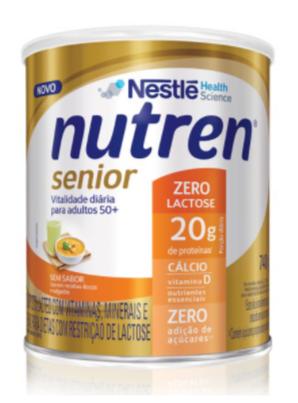 Nutren Senior Sem Sabor Zero Lactose - Lata 740g