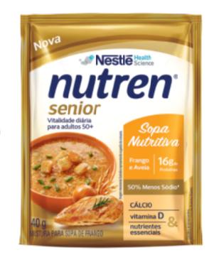 Nutren Senior Sopa Nutritiva Frango e Aveia - Sachê 40g