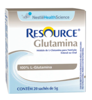 Resource Glutamina - Display com 20 sachês de 5g