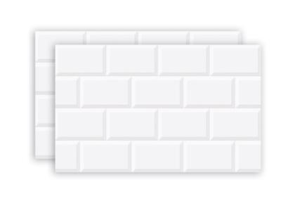 Revestimento Hd Brilhante Borda Bold Azulejo Branco 34x60cm