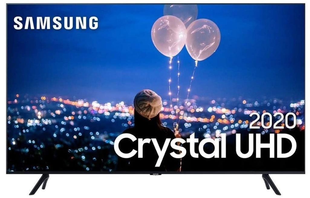 "Smart TV Crystal UHD 4K LED 50"" Samsung - 50TU8000 Wi-Fi Bluetooth HDR 3 HDMI 2 USB"