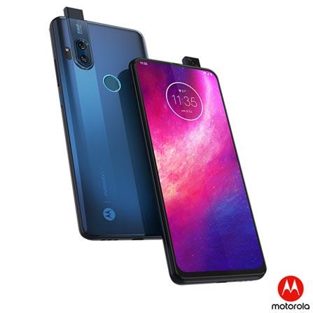 """Smartphone Motorola One Hyper Azul Oceano, com Tela de 6,5"""", 4G, 128 GB e Câmera Dupla de 64MP + 8MP"""