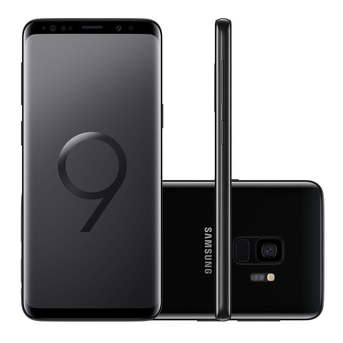 "Smartphone Samsung Galaxy S9 128GB Preto Tela 5.8"" Câmera 12MP Android 8.0"